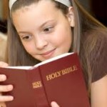 kid with bible